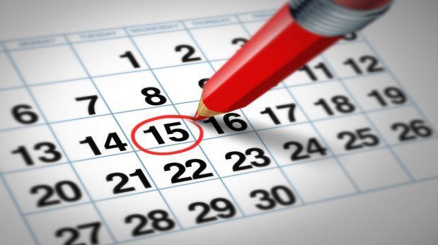 Calendario días festivos peru 2016