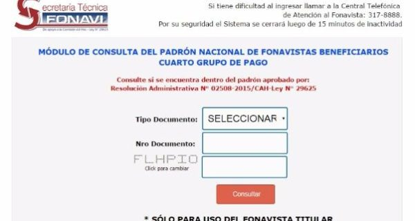 Lista de Séptimo Grupo de Pago – FONAVI Padrón Nacional de Fonavistas Beneficiarios www.fonavi-st.gob.pe