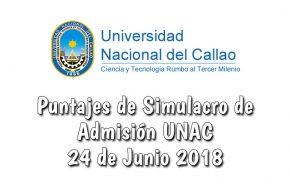 Resultados y Puntajes Simulacro de Admisión UNAC 2018