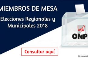 Miembros de mesa Elecciones 2018 ONPE