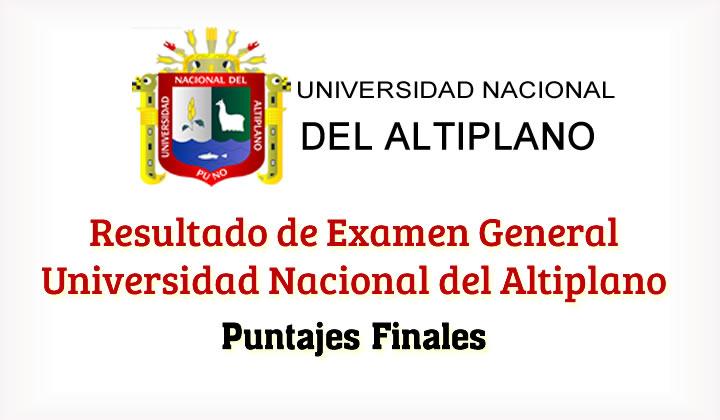 Lista de Ingresantes Examen UNA Puno Universidad Nacional del Altiplano