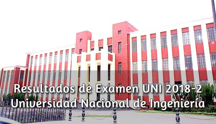 Resulatdos de Examen UNI 2018-2