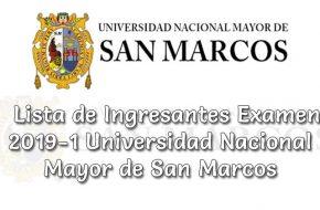 Ingresantes UNMSM 2019-1 Resultados en www.unmsm.edu.pe Universidad Nacional Mayor de San Marcos (Examen 15 y 16 de Setiembre 2018)