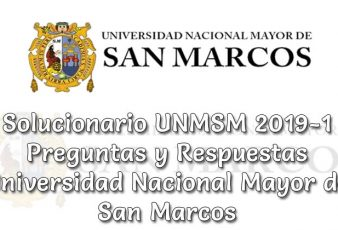 Solucionario san marcos UNMSM 2019-1