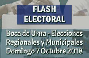 Resultados a Boca de Urna de Elecciones Regionales y Municipales – Domingo 7 Octubre 2018