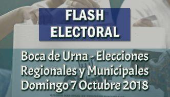 Resultados de Elecciones Regionales y Municipales 2018