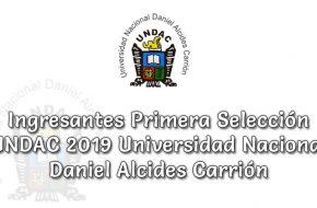 Ingresantes Examen Primera Selección UNDAC