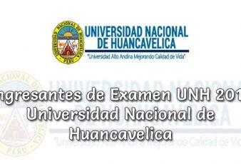 Ingresantes UNH 2019-1 Universidad Nacional de Huancavelica