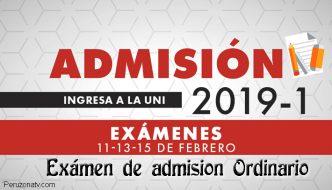 Resultados y Lista de Ingresantes examen UNI 2019-1