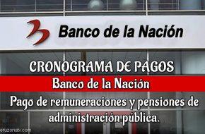Banco de la nación cronograma de pagos