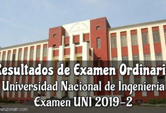 Resultados y Puntajes Examen UNI 2019