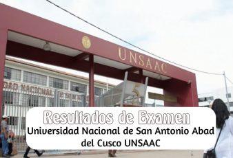 Resultados Examen Universidad Nacional de San Antonio Abad del Cusco