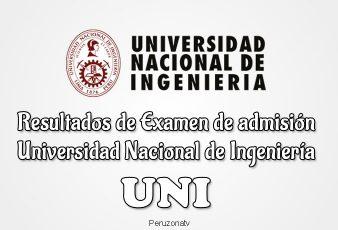 Resultados Examen admisión UNI