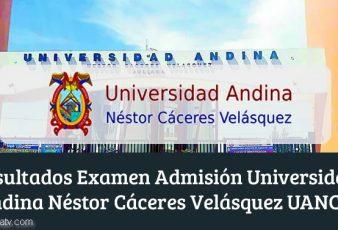 Resultados Universidad Andina Néstor Cáceres Velásquez UANCV