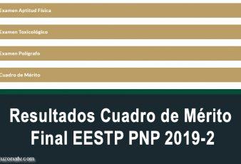 Cuadro de Mérito Final EESTP PNP 2019-2