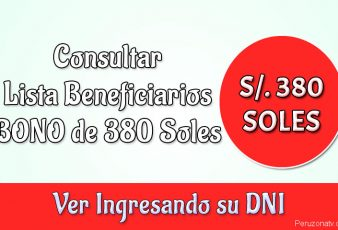 Consultar Lista Beneficiarios BONO de 380 Soles