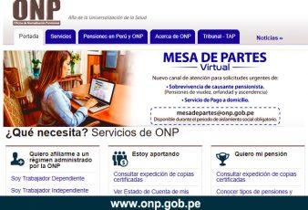 Consultar por internet ONP Plataforma virtual