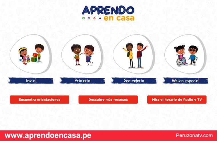 Ingresar Plataforma virtual aprendoencasa.pe