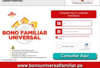 Bono Familiar Universal 760 Soles Consultar con DNI