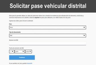 Como solicitar Pase Vehicular Laboral y Distrital 2020
