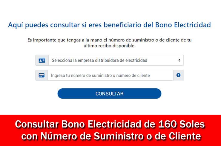 Ver Bono Electricidad 160 Soles lista de beneficiarios