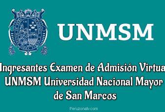 Ingresantes Examen Admisión Virtual San Marcos UNMSM