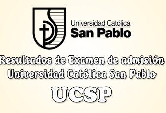 Resultados Examen Admisión UCSP