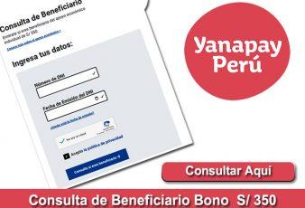 Link para Consultar Bono Yanapay 350 Soles